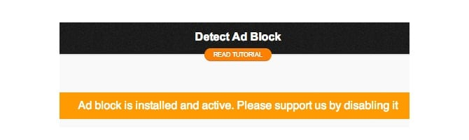 Ad Blocker Notice