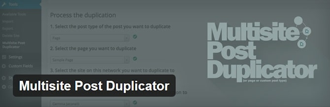 Multisite Post Duplicator