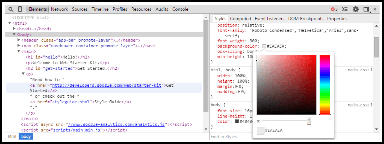 Chrome Devtools Window