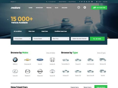 Motors WordPress Theme