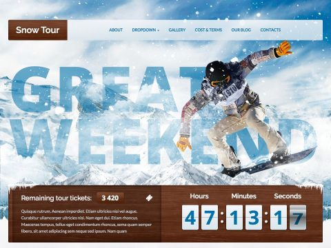 Snow Tour WordPress Theme