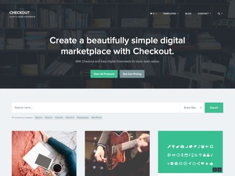 Checkout Digital Marketplace Theme