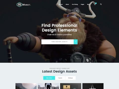 Market Marketplace WordPress Theme