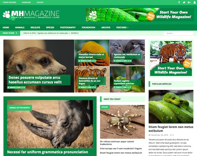 How to launch WordPress wildlife magazines with MH Magazine