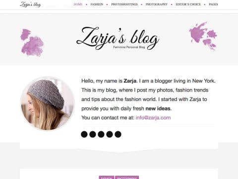 Zarja Blog WordPress Theme
