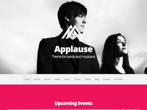 Applause WordPress Theme