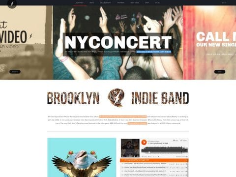 Brooklyn Indie Band WordPress Theme