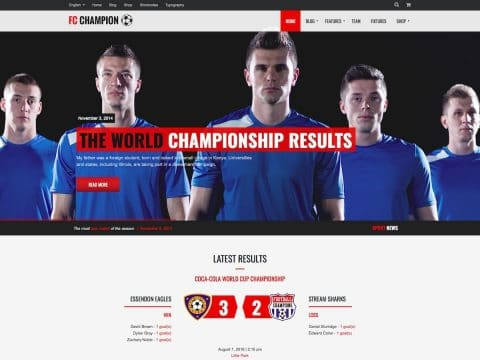 Champion Sports WordPress Theme