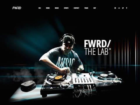 FWRD Music WordPress Theme