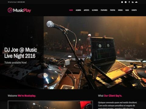 MusicPlay WordPress Theme