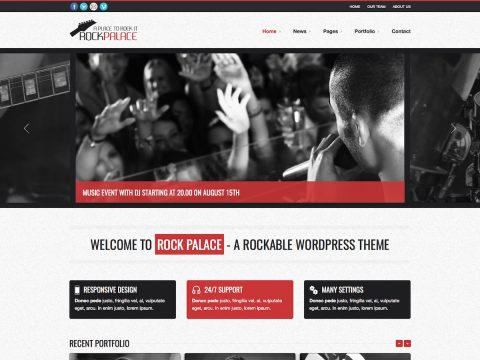 Rock Palace WordPress Theme