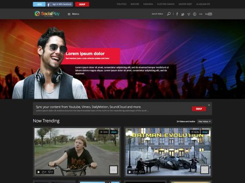 SocialPlay WordPress Theme