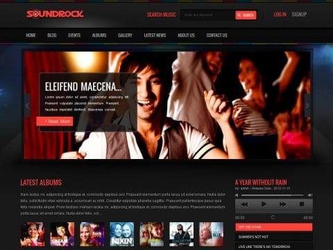 Sound Rock WordPress Theme