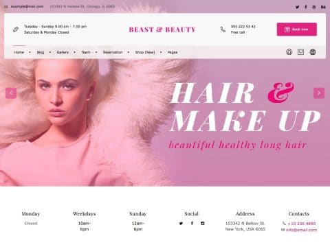 Beast Beauty WordPress Theme