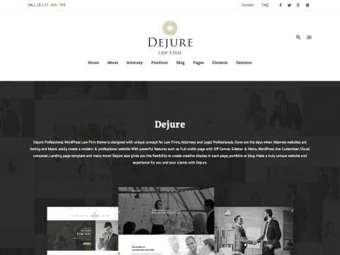 Dejure WordPress Theme