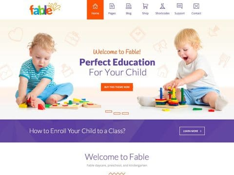 Fable Kids WordPress Theme