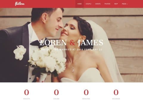 FlatLove Wedding WordPress Theme