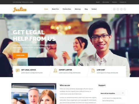 Justice WordPress Theme