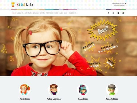 Kids Life WordPress Theme