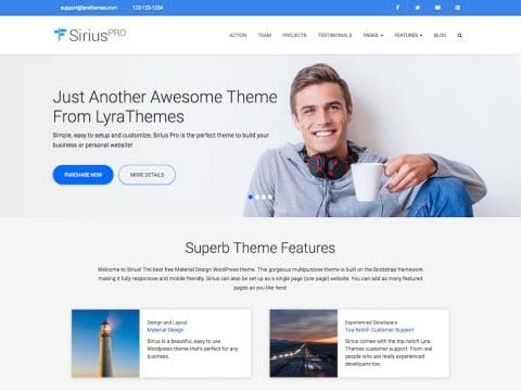 Sirius Pro WordPress Theme