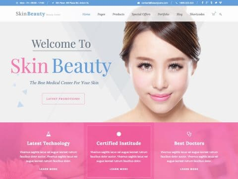 Skin Beauty WordPress Theme