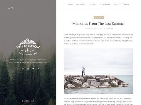 Wild Book WordPress Theme