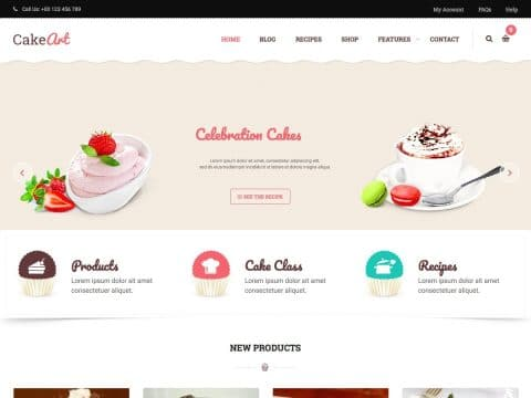 Cake Art Business WordPress Theme