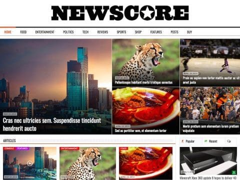 NewsCore News WordPress Theme
