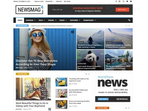 Newsmag Magazine WordPress Theme