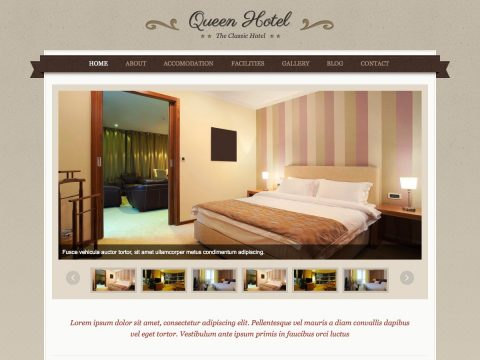 Queen Hotel WordPress Hotel