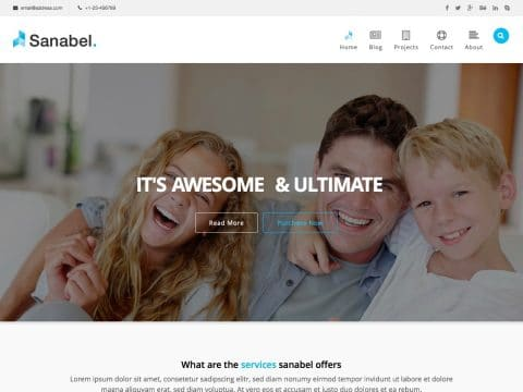 Sanabel Corporate WordPress Theme
