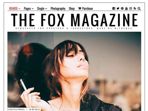 The Fox Newspaper WordPress Theme