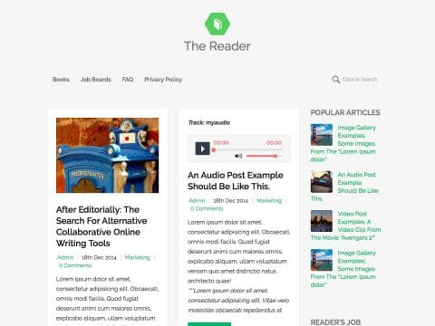 The Reader WordPress Theme