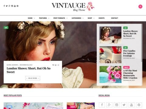 Vintauge Blog WordPress Theme