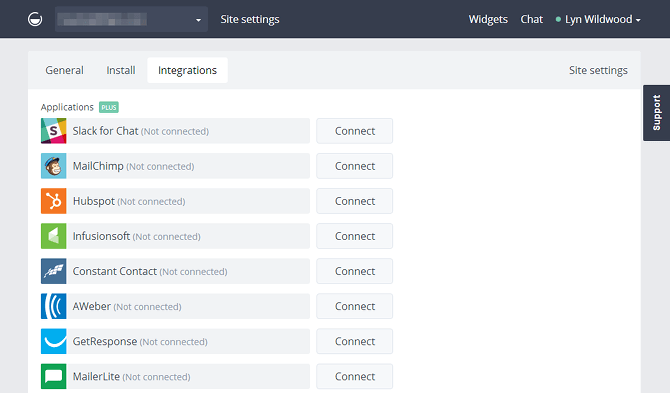 GetSiteControl Integrations