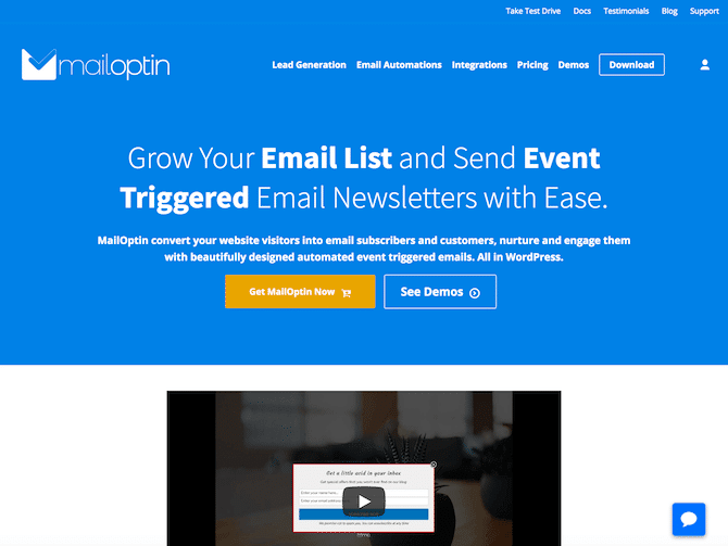 MailOptin review – Convert your website visitors into email subscribers and customers