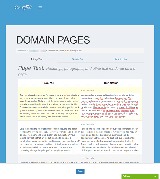 ConveyThis Plugin Domain Pages