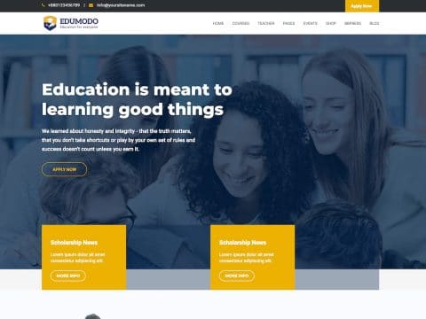 Edumodo WordPress Theme