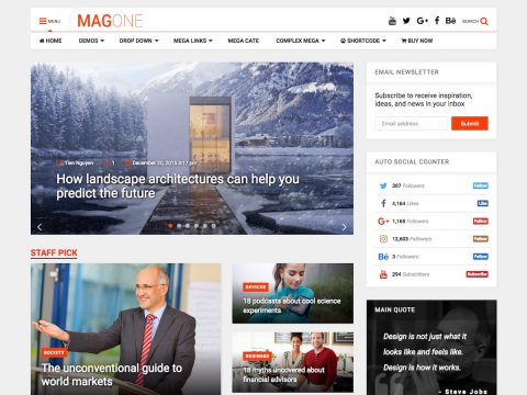 MagOne WordPress Theme