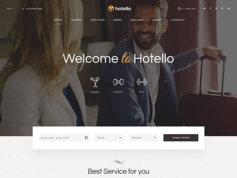 Hotello WordPress Theme