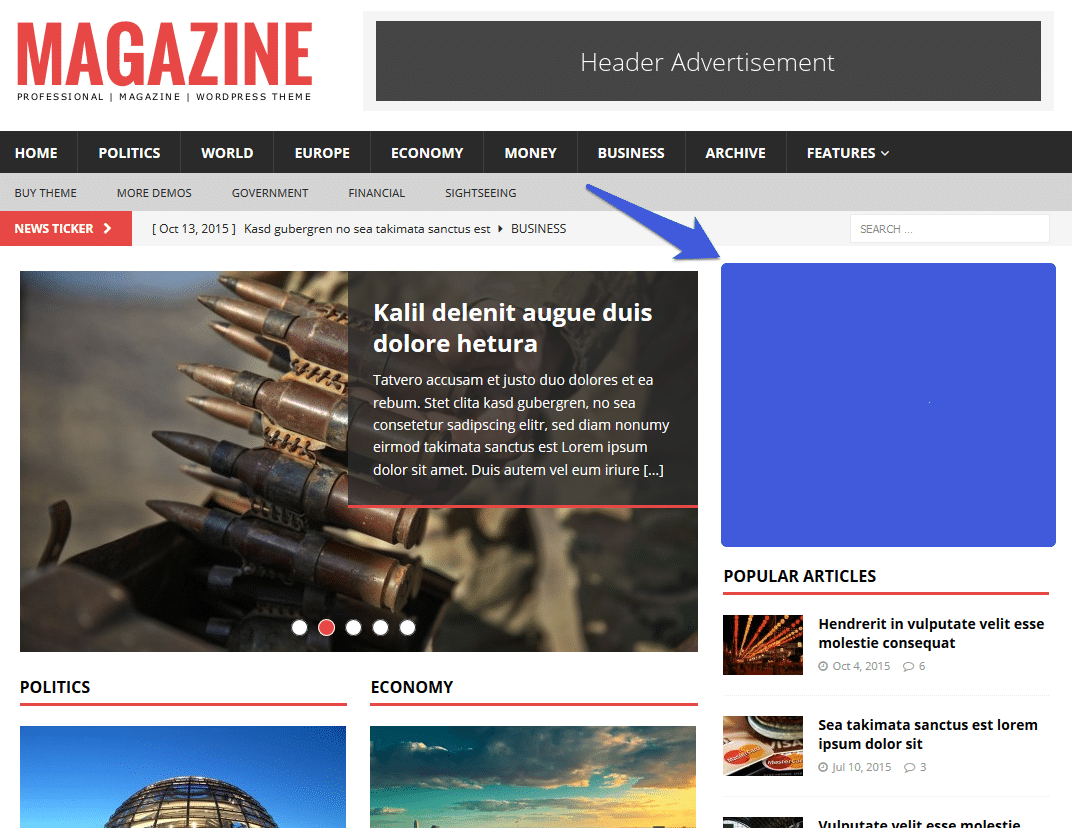 magazin blog advertisement sidebar