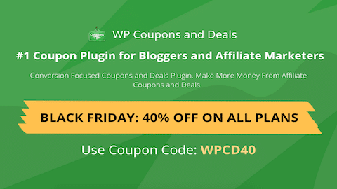 Black Friday Cyber Monday WordPress Deal WP Coupons and Deals
