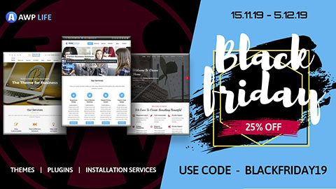 Black Friday Cyber Monday WordPress Deal A WP LIFE