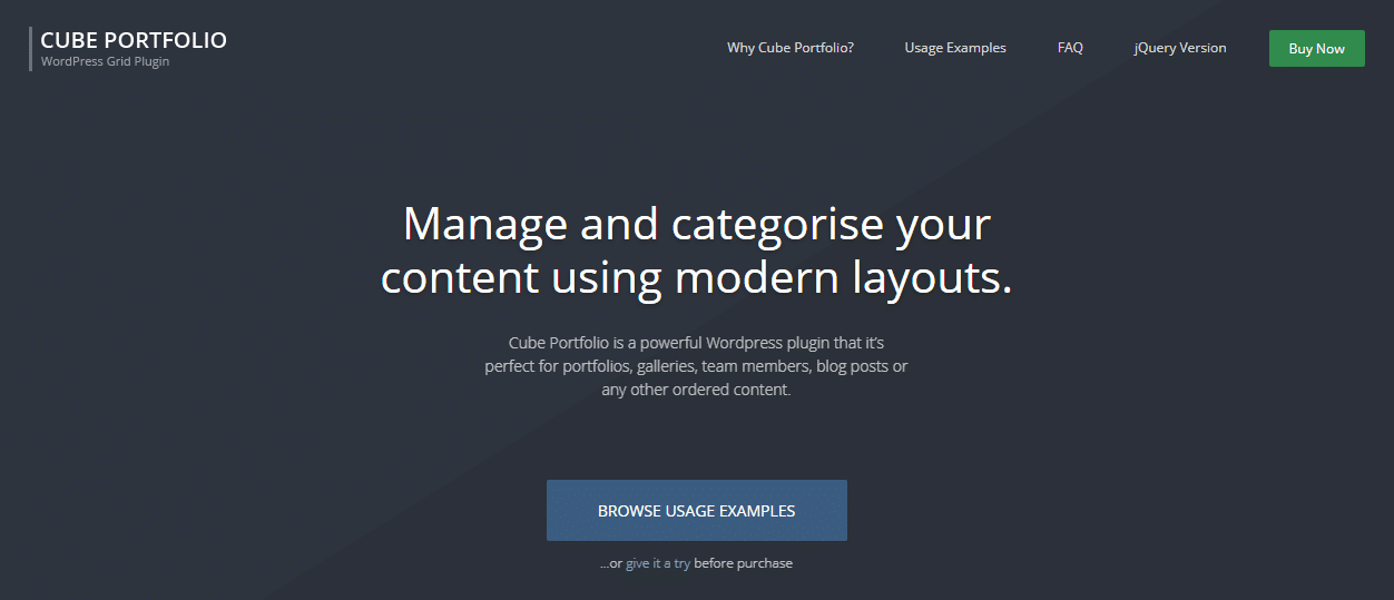 WordPress Portfolio Plugin Cube Portfolio