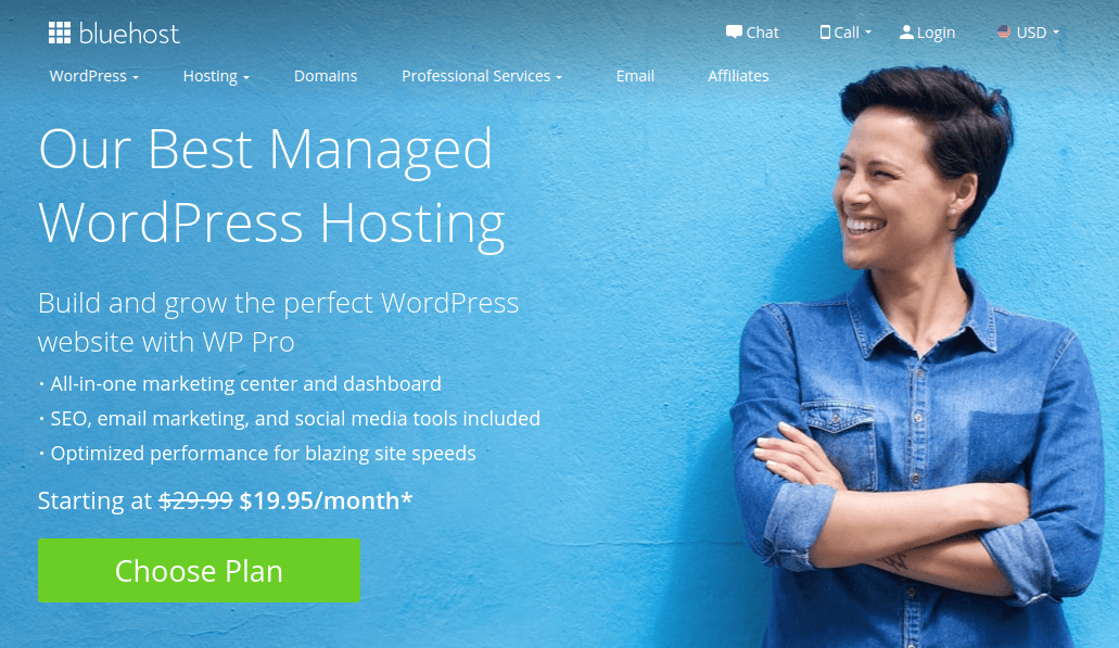 Bluehost - WP Pro WordPress Hosting