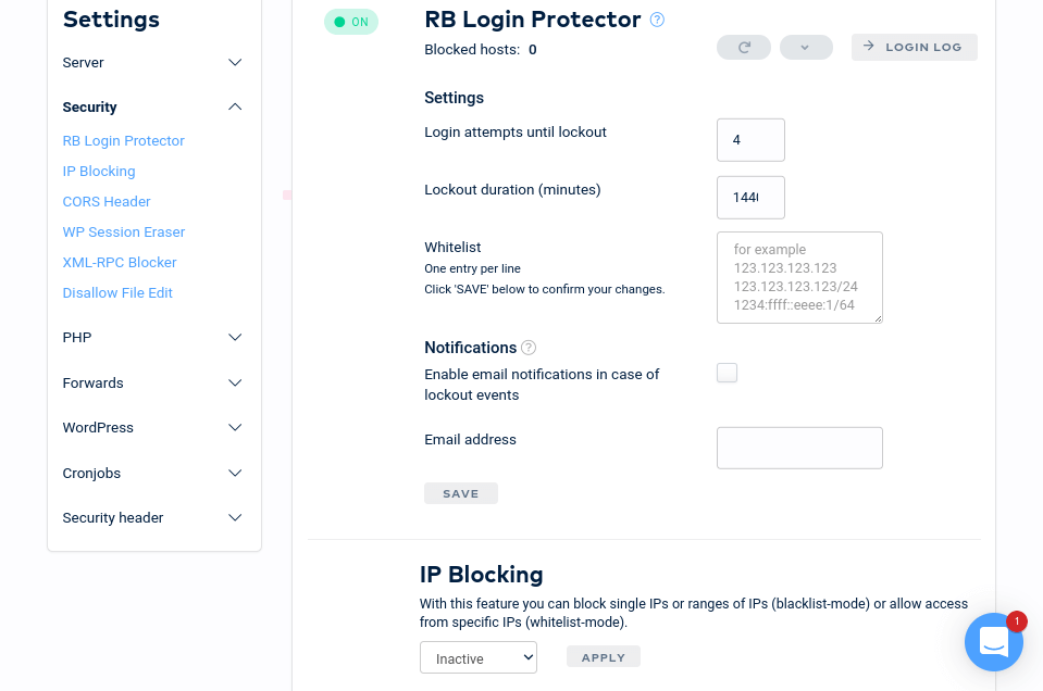Raidboxes - Login Protector