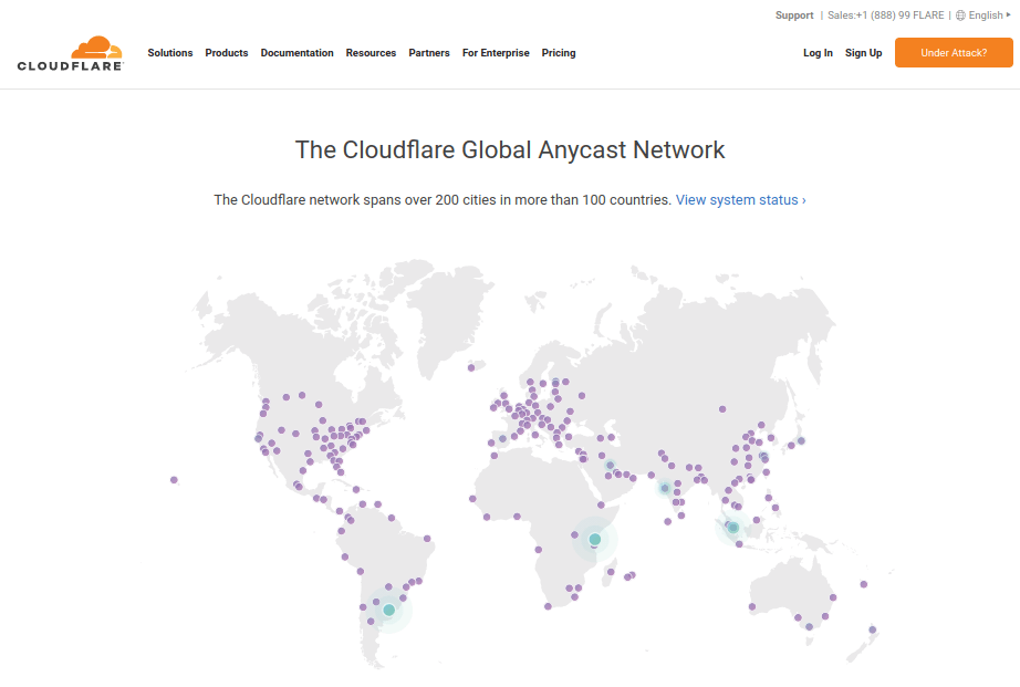 SiteGround - Cloudflare Network