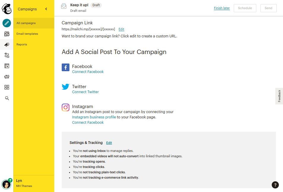 Mailchimp - Social Media Posts