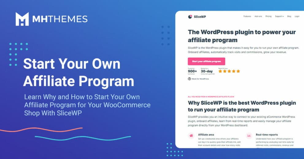 Start Your Own Affiliate Program for Your WooCommerce Shop With SliceWP